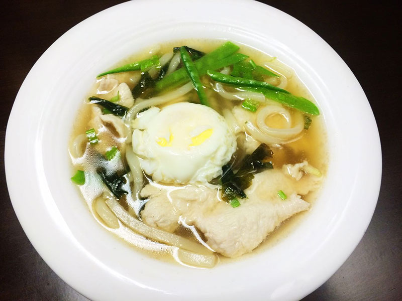 Three Mushroom Vegetarian Nabeyaki Udon Recipe — Dishmaps