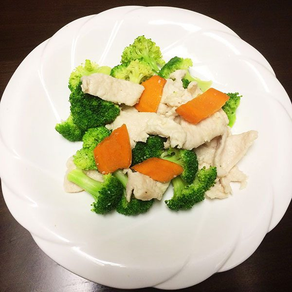 Steamed Chicken w. Mixed vegetables - Asia Grill - Chinese Restaurant Peoria IL